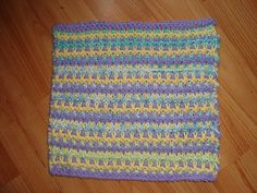Tricolour Dishcloth - could be interesting in greytones