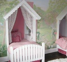 Great Little Girls room idea @TheDailyBasics  ♥♥♥ -- This would be so adorable!!