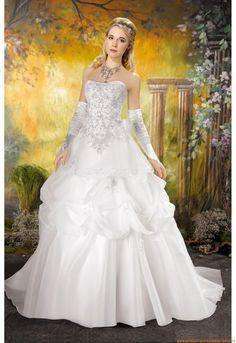 Brautkleider für Prinzessin 2014 aus Satin mit Applikation
