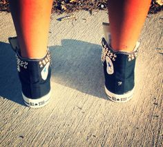 Studded Converse Shoes by FreeStreetShop on Etsy
