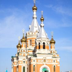 I think this may be the Roman Orthodox Church in Karaganda, Kazakhstan. I could see it from my kitchen window when I live there