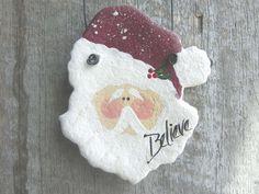 Santa Ornament Salt Dough Party Favors / by cookiedoughcreations, $5.95 https://www.etsy.com/listing/80249328/santa-ornament-salt-dough-party-favors?ref=shop_home_active