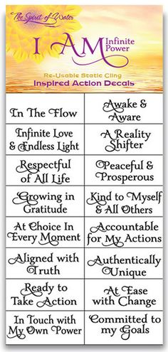 [[start tab]] These Water Blessing Labels feature positive I AM statements. When you affirm I AM statements, you become identified with the truth whaever follows those I Am words.