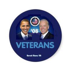 Obama Biden VETERANS Sticker