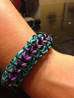 Zippy chain bracelet--custom colors, Rainbow Loom
