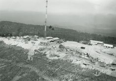 https://flic.kr/p/wjPNNU | Dalat aerial 1966-67 - by Ross Evans | Aerial view of the IWCS Site #23 on Pr'Line Mountain operated by the 1st Sig Bde