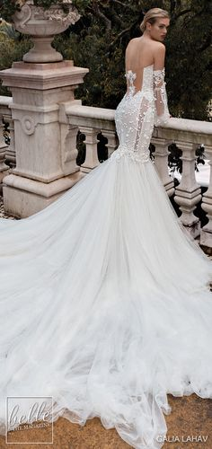 Galia Lahav Wedding Dresses Fall 2019 | Alegria Couture Bridal Collection - CAMILLA | mermaid lace dream wedding dress tulle skirt long train strapless backless detachable sleeves #weddingdress #weddingdresses #bridalgown #bridal #bridalgowns #weddinggown #bridetobe #weddings #bride#dreamdress #bridalcollection #bridaldress #dress See more gorgeous wedding dresses by clicking on the photo Tulle Skirt Wedding Dress, Wedding Dresses With Flowers, Lace Mermaid Wedding Dress, Sexy Wedding Dresses, Wedding Bridesmaid Dresses, Mermaid Dresses, Bridal Dresses, Wedding Gowns, Detachable Sleeves Wedding Dress