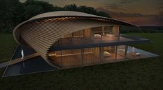 Kengo Kuma unveiled his design for six unique villas, a yoga pavilion and a greenhouse in Bali.