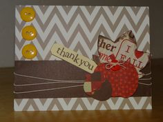 Handmade fall inspried thank you greeting by TheBusyBeeCardBox