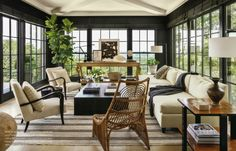 {Betsy Brown} of Mountainbrook, AL. Note all the charcoal trim that really makes the outdoors pop.