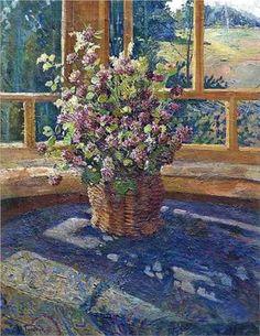 Igor Grabar (Игорь Эммануилович Грабарь, 1871-1960)  Bouquet of clover on the window