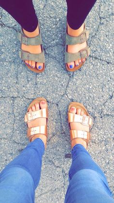 Birkenstocks• I have broken down and started to like them