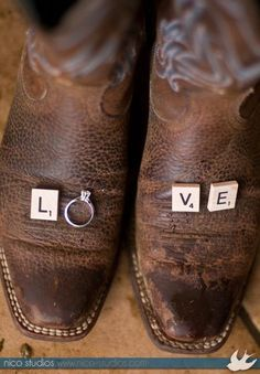 Engagement announcement on boots Country Engagement, Wedding Engagement, Our Wedding, Dream Wedding, Wedding Wishes, Perfect Wedding, Wedding Stuff, Cute Wedding Ideas, Wedding Pictures