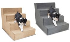 4lb. high-density foam stairs help small pets or pets with health problems easily climb onto the couch or bed; machine-washable cover