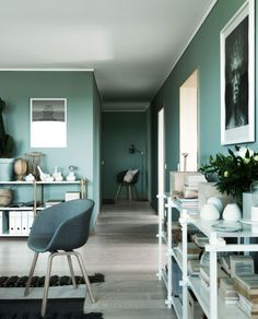 Green wall paint interior trend 2016 ITALIANBARK #green #greeninteriors…