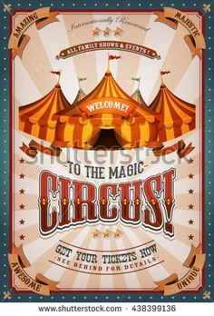 Carnival Themes, Circus Theme, Circus Art, Circus Illustration, Vintage Circus Posters, Circo Vintage, Expressive Art, Big Top, Art Festival