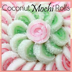 If you like soft and slightly chewy mochi you must try this recipe. It is so much fun and colorful. great for dessert or just as a snack. It is mainly made with coconut milk, mochi flour and sugar. Asian Desserts, Asian Recipes, Sweet Recipes, Ethnic Recipes, Mochi Cake, Mochi Ice Cream, Japanese Sweets, Japanese Rice, Coconut Recipes