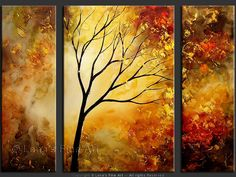 "paintings of trees | Landscape Art : Trees painting ""Late Autumn"""