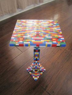 lego decorating bedroom ideas | ... Top Dining Table with Lego Parts Offers Unique Furniture Design Idea