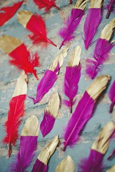 Style Me Pretty | Hand painted feathers