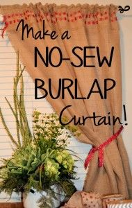 Make a no-sew burlap curtain for under $20 in about 2 hours! Tutorial on site! Follow me for great DIY home decor projects!