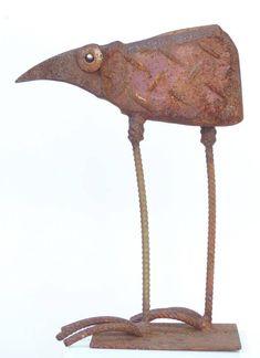 Vögel Online Shop – Chris Kircher Junk Metal Art, Scrap Metal Art, Bird Sculpture, Bronze Sculpture, Metal Sculptures, Abstract Sculpture, Welding Art, Welding Projects, Art Projects