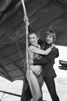 Star Wars: Return of the Jedi. Luke and Leia (Mark Hamill and Carrie Fisher)