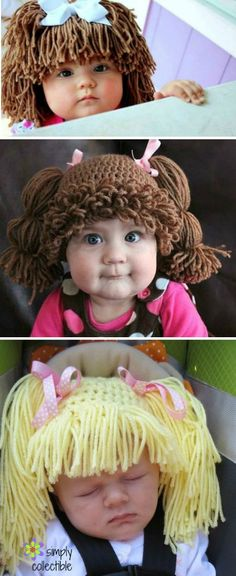 Cabbage Patch Doll Hat Crochet Pattern Are you on the hunt for a Crochet Cabbage Patch Hats Pattern? You've come to the right place. We have lots of free patterns plus video tutorials. Cabbage Patch Costume, Cabbage Patch Hat, Granny Square Häkelanleitung, Granny Square Crochet Pattern, Crochet Patterns, Crochet Baby Boots, Crochet Slippers, Crochet Hats, Crochet Doilies
