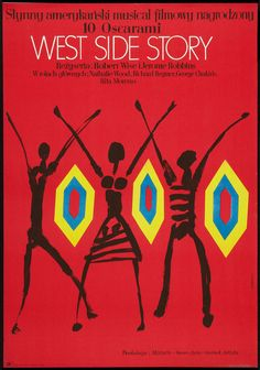 West Side Story (Jerome Robbins and Robert Wise, 1961) Polish design by Marian Stachurski