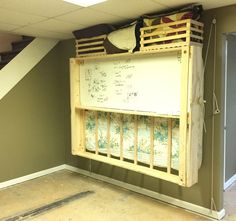 Makercise Murphy Bed Take a look at the YouTube video documenting the process. I built this hanging murphy bed with a dry erase board on Continue Reading
