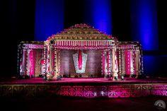 """Portfolio"" album of Wedding planner Fairytale Weddings in Hyderabad Wedding Backdrop Design, Wedding Stage Design, Wedding Hall Decorations, Marriage Decoration, Engagement Decorations, Backdrop Decorations, Flower Decorations, Telugu Wedding, Wedding Mandap"
