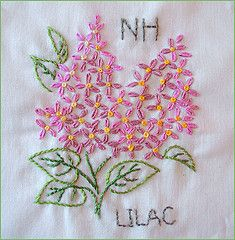 State flower quilt embroidery patterns