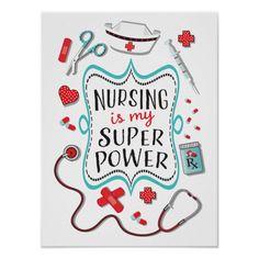 Shop Nursing is my super power poster print created by McBooboo. Nurses Week Quotes, Nurse Quotes, Funny Quotes, Nursing Wallpaper, Nurse Drawing, Nurse Appreciation Week, Nurse Decor, Nurse Aesthetic, Nurse Art