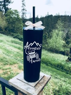 Jeep 20 oz Tall Skinny Metal Tumbler with Straw - Insulated Cup - Custom Tumbler - Personalized Water Bottle - Travel Mug - Custom Jeep Gift Personalized Gifts For Her, Personalized Tumblers, Personalized Water Bottles, Diy Tumblers, Custom Tumblers, Glitter Tumblers, Yeti Cup, Insulated Cups, Custom Cups