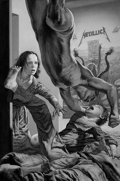 """Sad But True"" by Los Angeles based artist Nicola Verlato. #surrealism #nightmare"