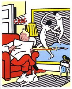 """Roy Lichtenstein 1993 """"Tintin in the New World"""""""