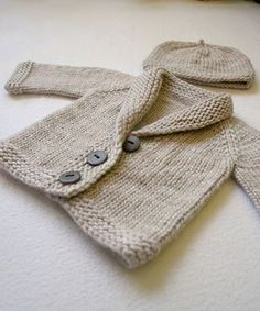 Free Pattern: Baby Sophisticate by Linden Down in Worsted, Taupe colors. Pattern link: http://www.ravelry.com/patterns/library/baby-sophisticate-2