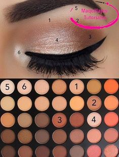 Pin by Areli Cardoso on Make-up and hair and nails Oh MY! in 2019 Makeup Eye Looks, Eye Makeup Steps, Simple Eye Makeup, Smokey Eye Makeup, Makeup Tips, Natural Eye Makeup Step By Step, Simple Makeup Looks, Makeup Tutorials, Natural Eyeshadow Looks