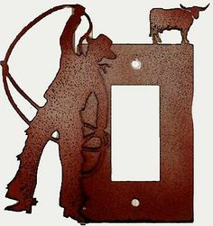 #New #Western #Decor #Cowboy #Lasso Decorative #Light #Switch #Cover Rodeo Cowboy Up