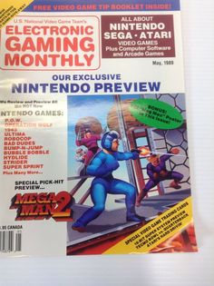 Electronic Gaming Monthly Magazine 1989 Exclusive Nintendo Preview Guide