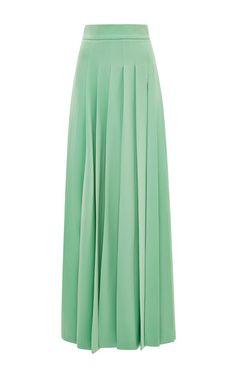 759bb23c3c56 Light Green Long Pleated Skirt