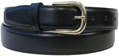 The Vegan Collection Garrison Black Pleather Gold Buckle Belt, XS The Vegan Collection. $32.00
