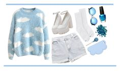 """""""Sleeping in pastels hoping for a sweet sunrise"""" by clea69 ❤ liked on Polyvore featuring Levi's, Hanes, STELLA McCARTNEY, Revo and OPI"""