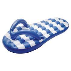 Marine Blue Flip Flop 71-in Inflatable Pool Float, Royal Blue