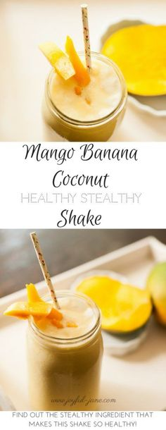 Who wants to ABUSE these yummy healthy shakes to lose weight? Who wants to CHEAT with diet shakes as meal replacements? These YUMMY recipes will show you. Mango Recipes, Thm Recipes, Shake Recipes, Free Recipes, Fruity Drinks, Yummy Drinks, Yummy Food, Coconut Smoothie, Banana Coconut