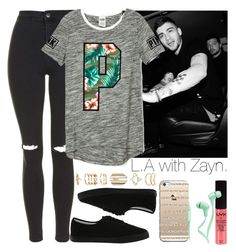 """""""L.A with Zayn."""" by welove1 ❤ liked on Polyvore featuring Topshop, Vans, Accessorize, Casetify, NYX and Merkury Innovations"""