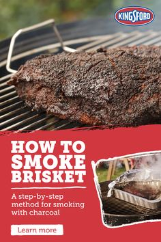 When you use Kingsford Charcoal you get unbeatable and succulent smoked brisket. Tap the Pin to learn more. Beef Brisket Recipes, Smoked Beef Brisket, Smoked Meat Recipes, Brisket Rub, Pellet Grill Recipes, Grilling Recipes, Rub Recipes, Kingsford Charcoal, Smoking Recipes