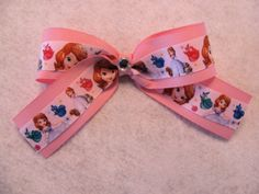 Hey, I found this really awesome Etsy listing at http://www.etsy.com/listing/169244866/sofia-the-first-hair-bow