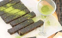 Packed full of simple pantry ingredients, these matcha chocolate bars are easy to make, store beautifully in the freezer, and make a delicious afternoon tea snack.
