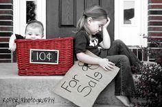fun sibling photo